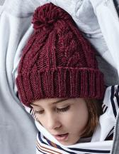 Junior Cable Knit Melange Beanie